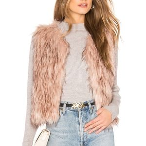 NWT BB Dakota Barbarella Faux Fur Vest